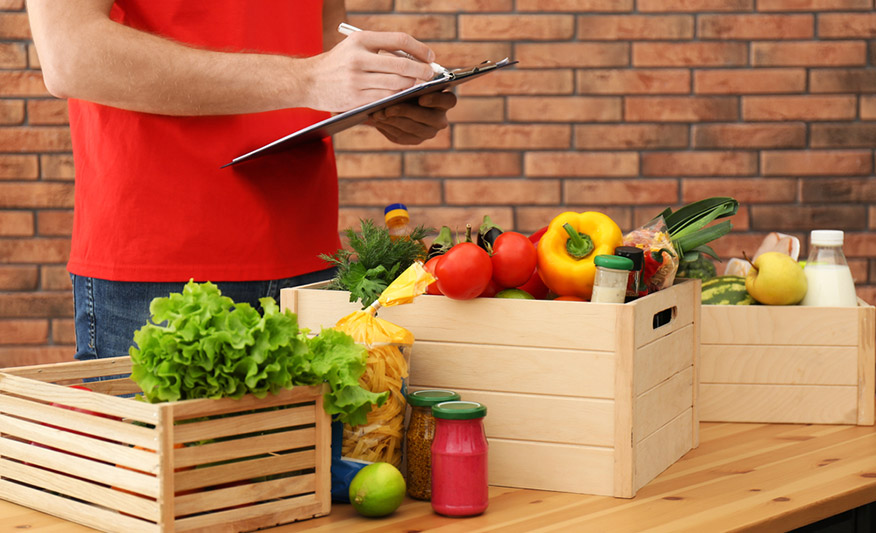 Obst- und Gemüsekörbe